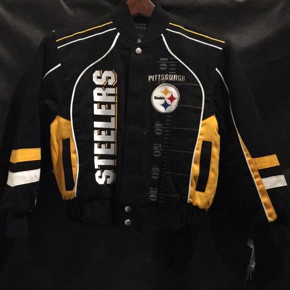 online store 5f278 6c2d2 Kids Steelers Jacket NWT